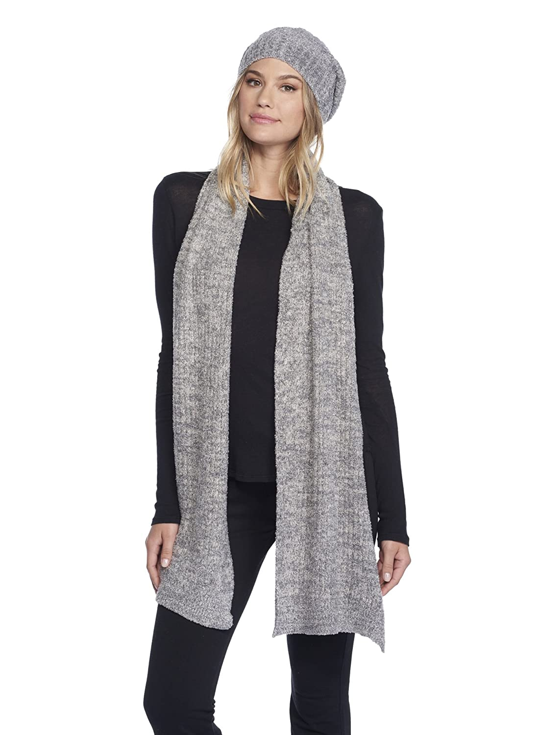 Barefoot Dreams CozyChic Lite Heathered Ribbed Scarf B478