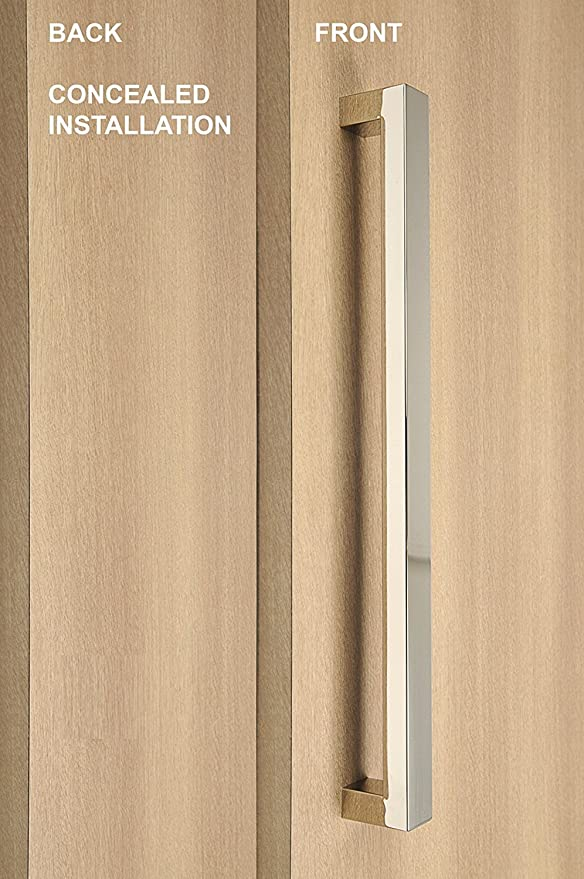 Polished Chrome Pull Handle Door Entry 36 inch Long Stainless Steel Entrance