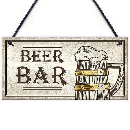 Mr.sign Beer Bar Cartel de Pared Madera Placa Madera Palet ...