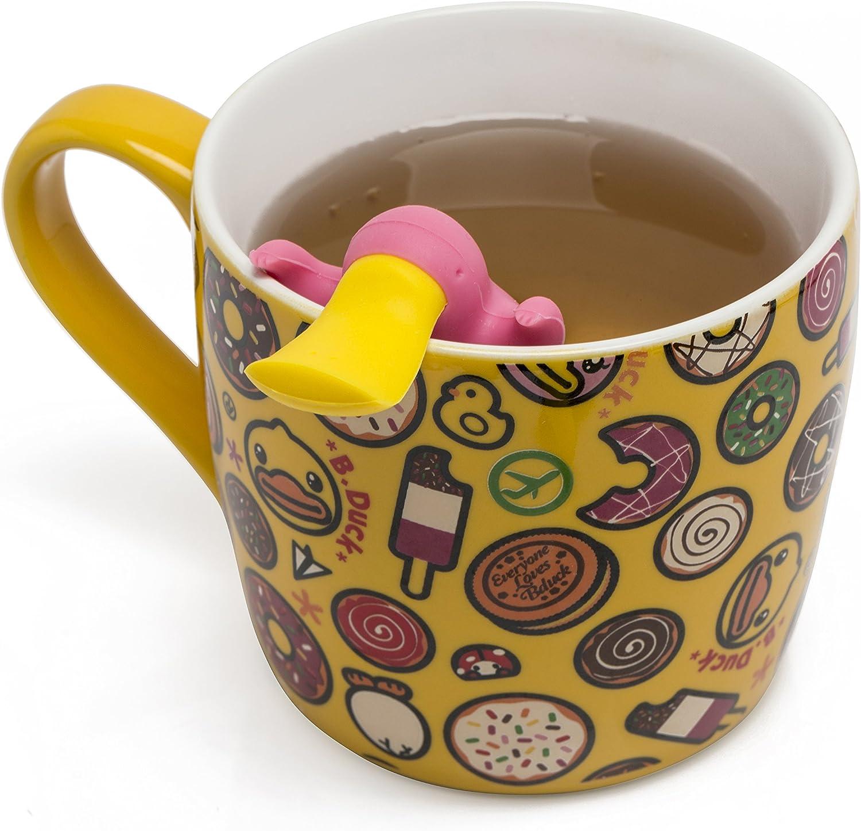 Gobesty Teesieb 2 St/ück Schnabeltier Tee-Ei Tee-Filter Teekugel aus Silikon Teem/ännchen Teesiebe Tea Infuser in der Form eines Schnabeltiers f/ür lose Teebl/ätter Kr/äuter Blau