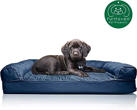 Amazon.com: furhaven Pequeño acolchado sofá ...