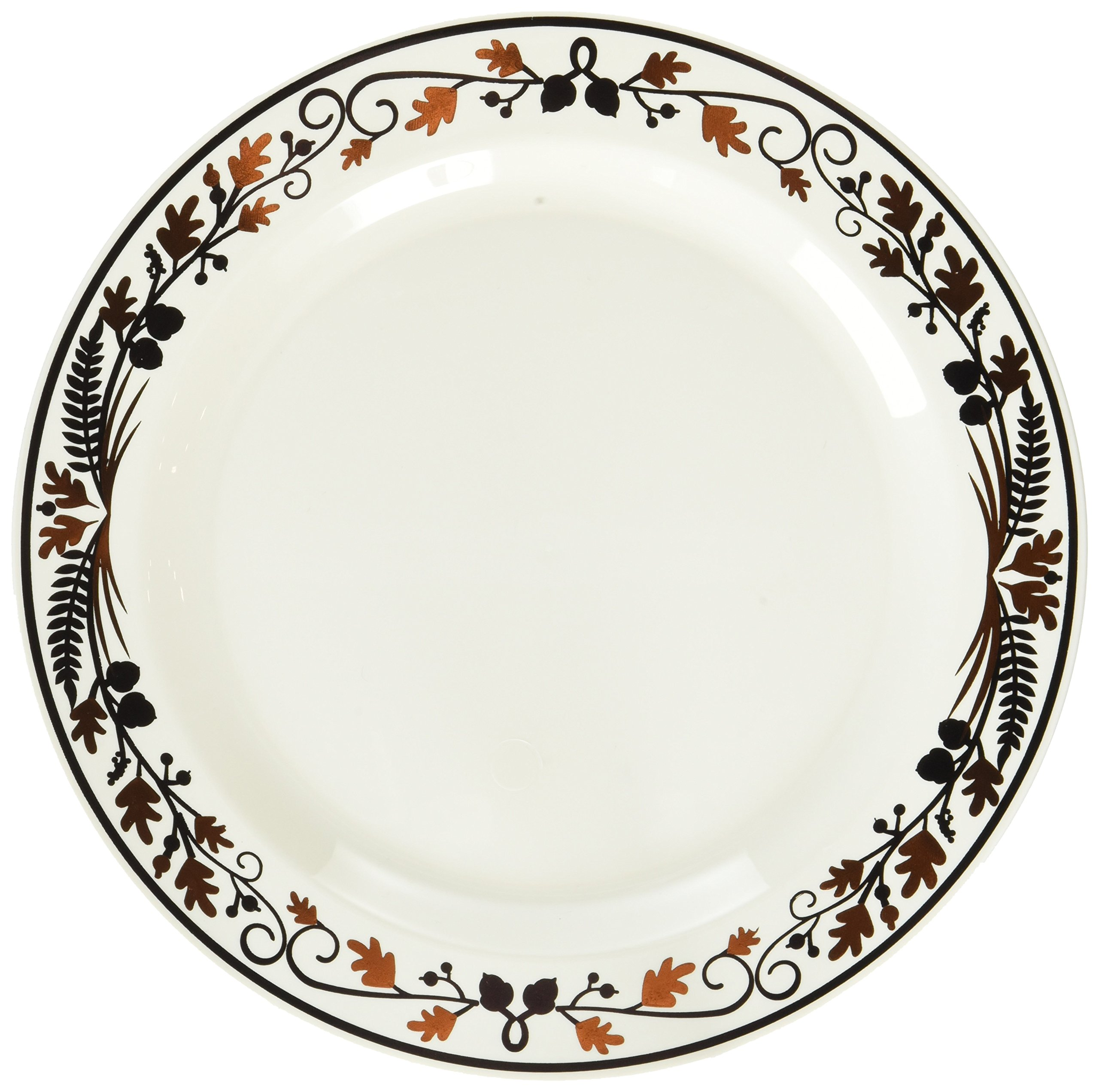 Amscan Colors of Fall Thanksgiving Premium Round Plate Tableware Party Supplies , 120 Pieces
