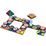 PicassoTiles 101 Master Builder Magnetic Building Block Toy Set Construction Magnet Tile Blocks Education Toys with 22 Optica