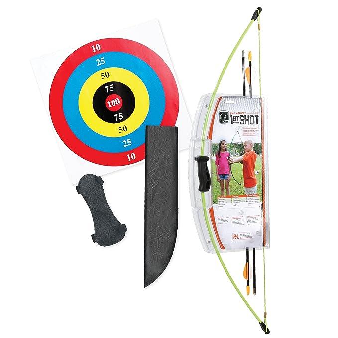 7a6ab2100 Amazon.com : Bear Archery 1st Shot Youth Bow Set - Flo Green : Sports &  Outdoors
