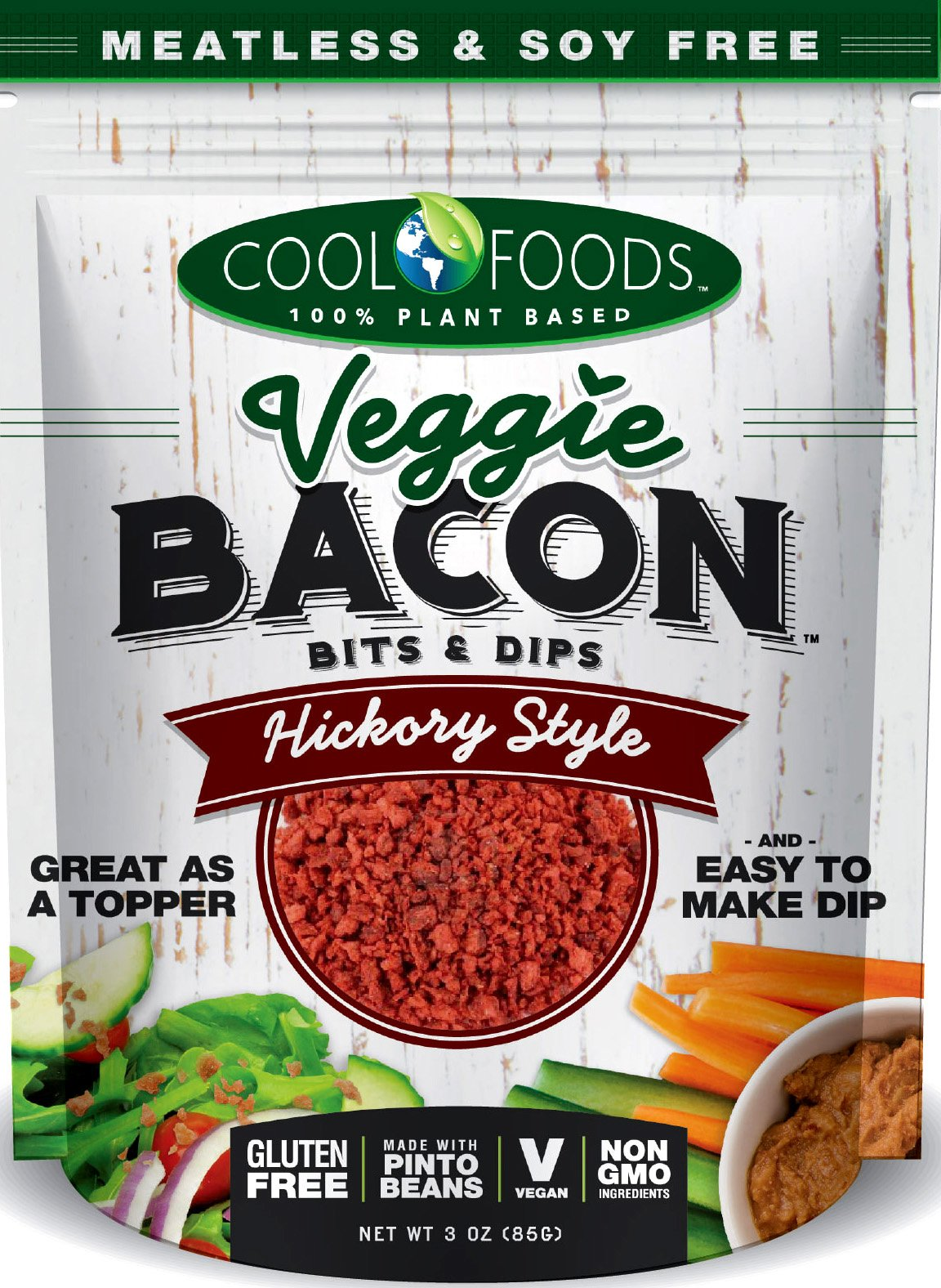 Veggie Bacon Bits and Dips- VEGi vegan bacon