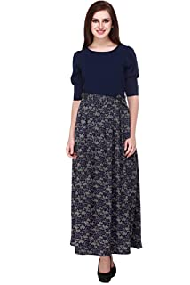 1eff6178bdc cottinfab Women s Viscose Maxi Dress  Amazon.in  Clothing   Accessories