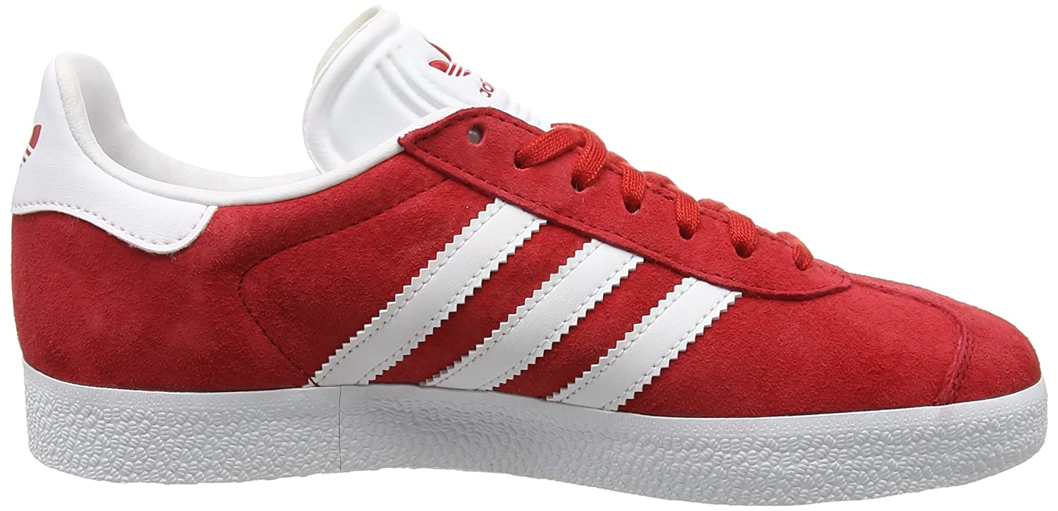 adidas Men's Gazelle Casual Sneakers B01HLJX1YE 9.5 M US|Powred/White/Goldmt