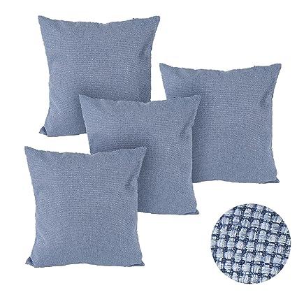 Amazon Com Deconovo Faux Linen Pillow Cover Hand Made Plain