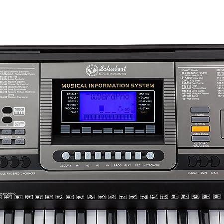Schubert Etude 450 USB • teclado • teclado de aprendizaje • 61 teclas • teclas de luz • sensibilidad a la rapidez • función de grabación y reproducción • 3 ...