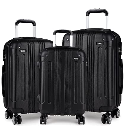 82d380a4b Kono Luggage Set of 3pcs Light Weight ABS Suitcase 4 Spinner Wheel Travel  Trolley Case 20