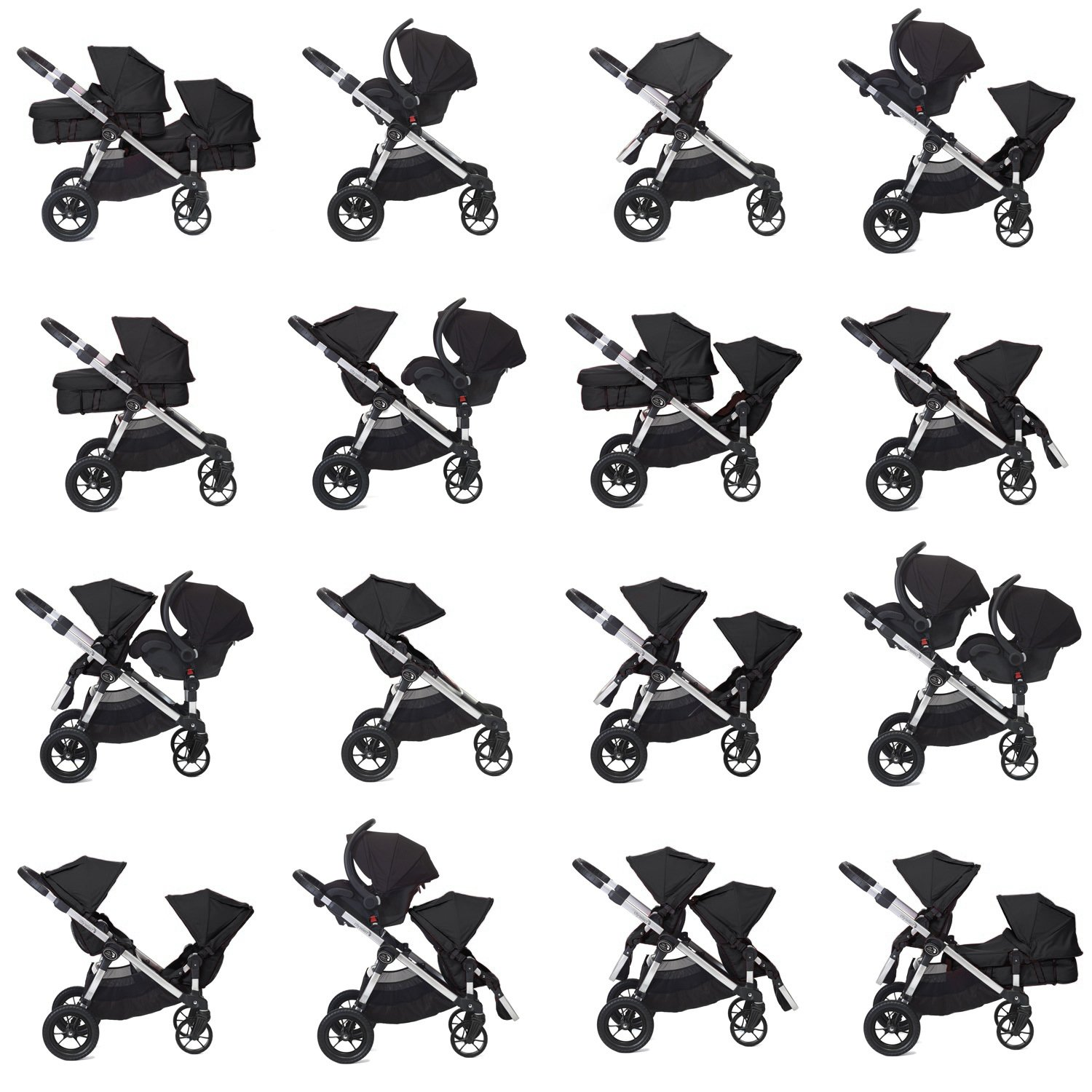 Baby Jogger 2015 City Select With 2nd Seat Onyx
