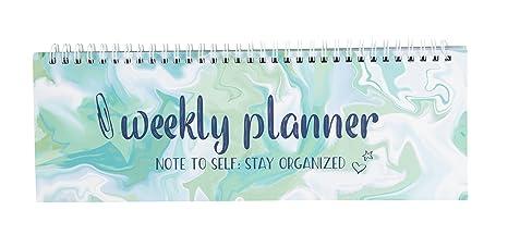 Amazon.com: Planificador semanal en espiral, planificador ...