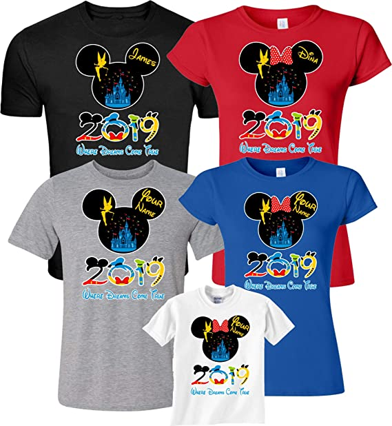 8576945bd Dsiney Family Vacation 2019 Custom Family Name Matching Shirts Xs Youth  (5-6). Roll over image to ...