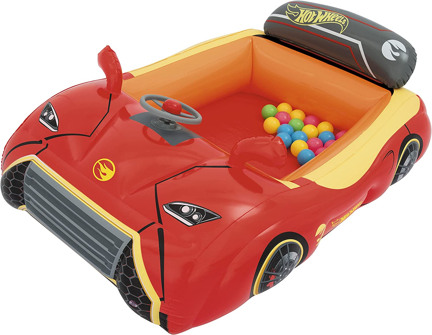 Piscina de Bolas Hinchable Bestway Hot Wheels Coche Deportivo ...