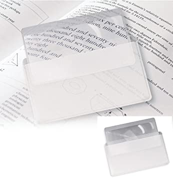 Amazon.com: Heim & Büro Business Tamaño de tarjeta Hoja lupa ...