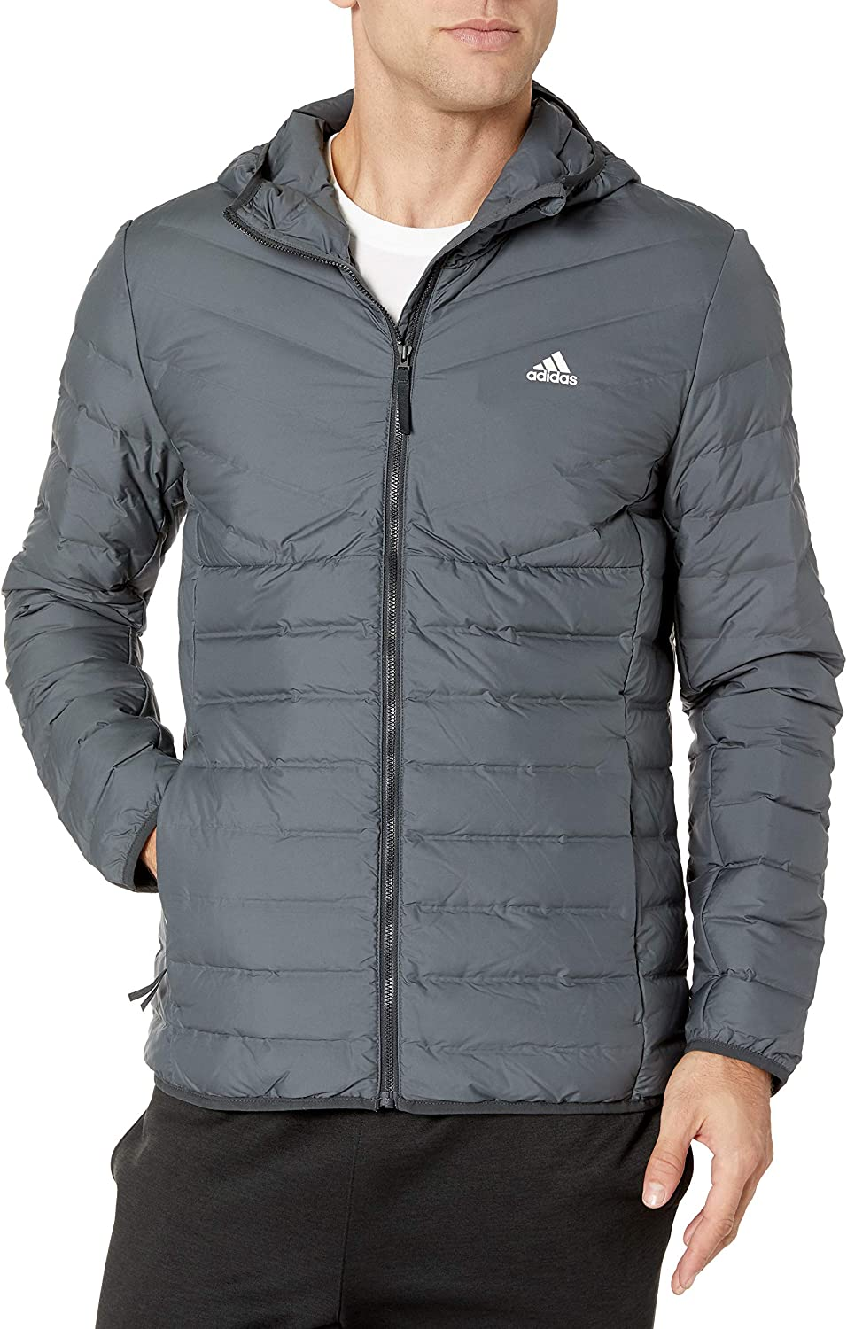 Adidas Men Varilite Soft 3 Stripes Hooded Jacket au meilleur