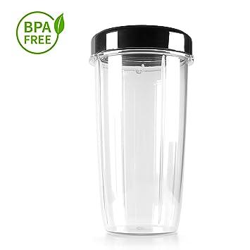 Eculina Vaso Tapa - 1000 ML-De Tritán Irrompible-Apta para Lavavajillas y Sin BPA-Accesorios para Batidora, Transparente: Amazon.es: Hogar