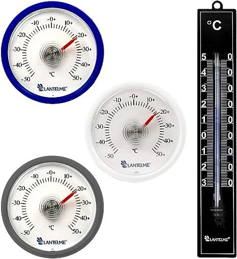 Lantelme - 3 piezas redondas bimetálico termómetro analógico ...