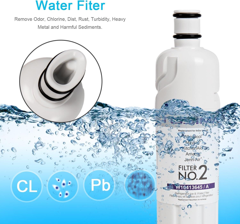 ToSima W10413645A - Filtro de agua para frigorífico (2 unidades ...