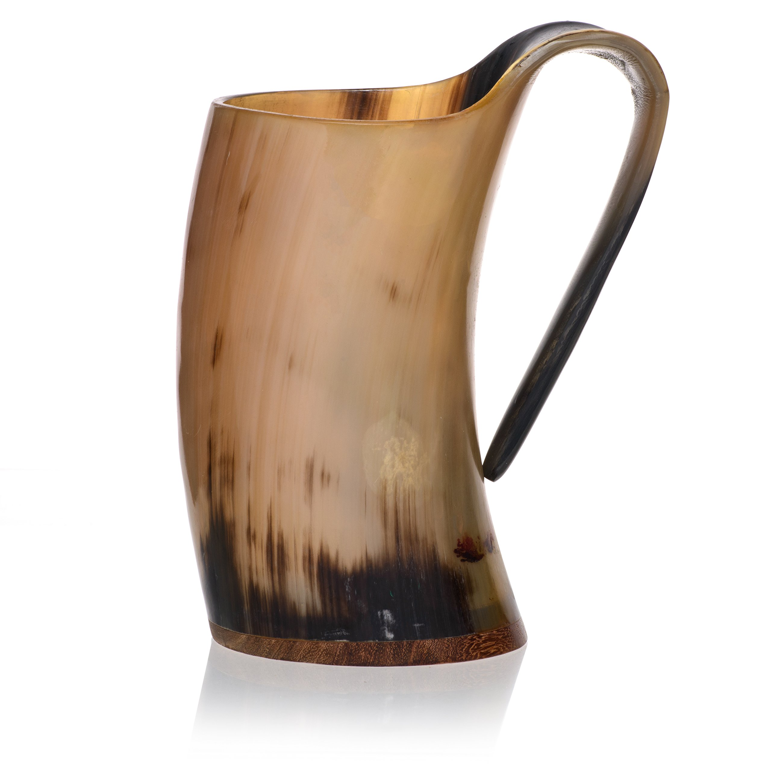 Tankard with Burlap Bag by Weirwood   Polished Viking Drinking Ox Horn  ''Game of Thrones'' and Medieval Inspired Authentic and Natural Alehorn