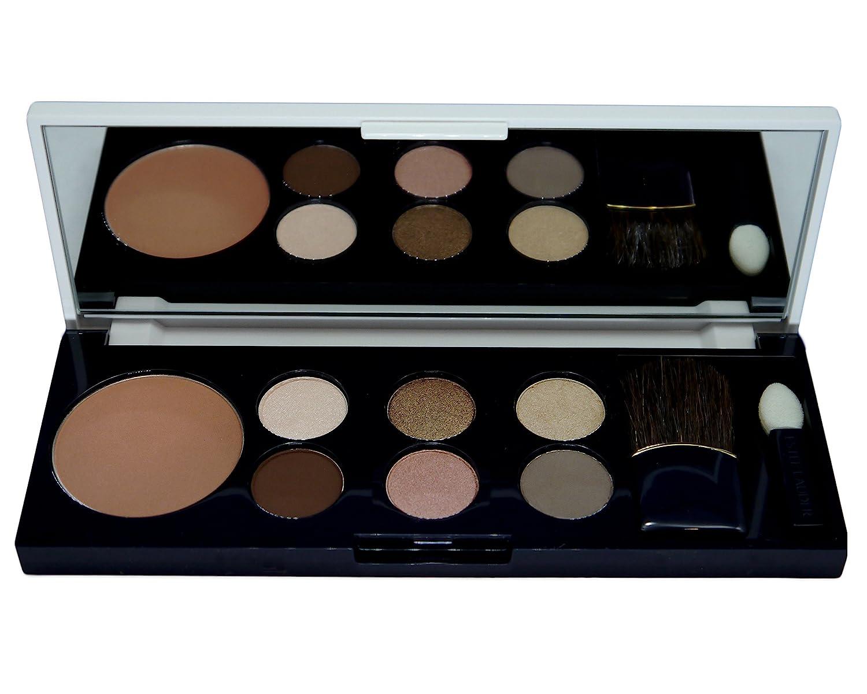 Estée Lauder Pure Color Eyeshadow 6 Color Palette (10-Ivory Slipper (Satin), 35-Hot Cinnamon (Shimmer), 60-Sugar Biscuit (Satin), 38-Chocolate Bliss (Matt), 47-Nude Fresco (Satin), 12-Wild Truffle (Matte)) + Pure Color Blush (11-Sensuous Rose).