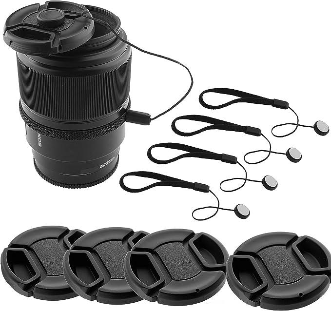 2PCS 67 mm Snap-On Lens Cap For Canon Cámara Apto para cualquier tamaño de filtro 67 Mm Lente