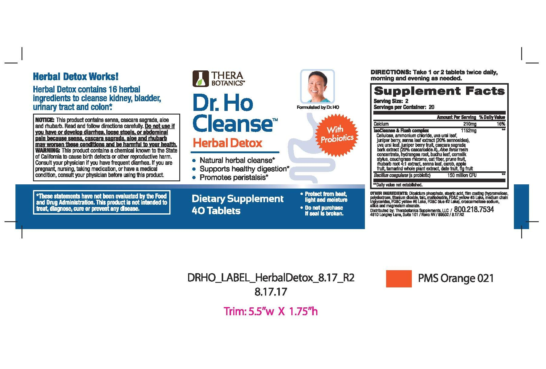 Dr. Ho Cleanse & Restore - Detox-Eliminate Built-up Toxins and Waste; Relieve Discomfort from Constipation, Gas, Upset Stomach; Feel Lighter, Slimmer Energize Gluten Free Fiber Rich Detoxification by Dr Ho's