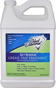 Black Diamond Stoneworks GET SERIOUS Grease Trap Treatment Commercial Enzyme Drain Opener, Cleaner, Odor Control, Trap Cleaning and Maintenance. 1 Gallon