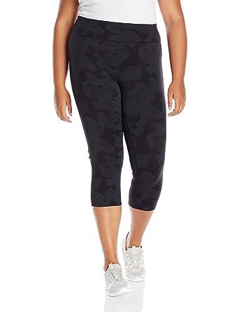 24fb6a5695456 Calvin Klein Performance Women's Plus Size Texture Print Crop Legging,  Jigsaw Combo, ...