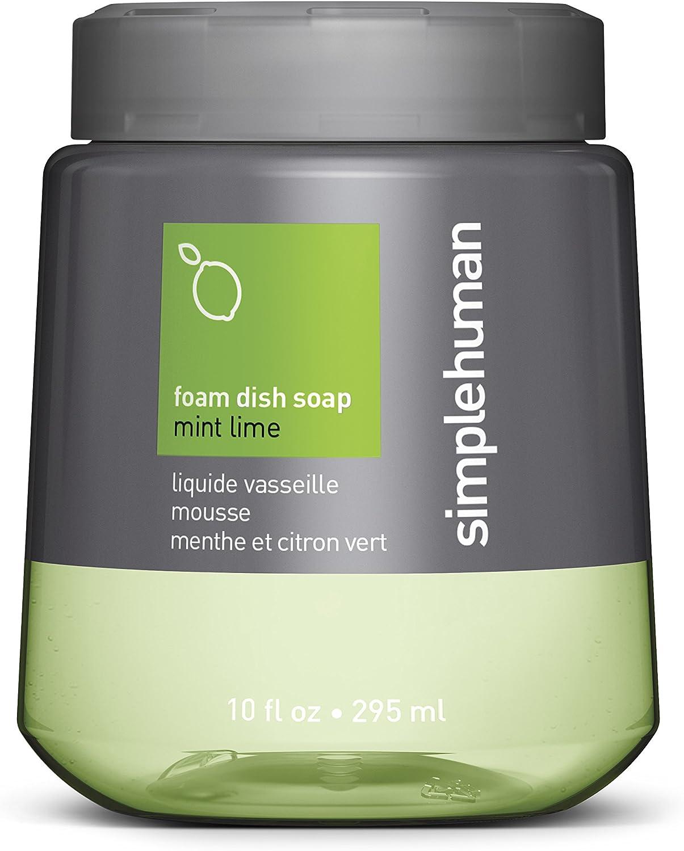 simplehuman Mint Lime Foam Dish Soap, 10 Fl. Oz. Foam Cartridge
