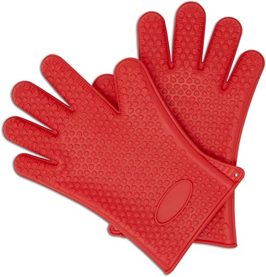 Home Kitchen Long Silicone Glove Heat Resistant Mitt Cooking BBQ Oven Insulated