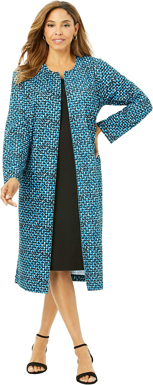 Jessica London Women's Plus Size 2-Piece Ponte Knit Jacket Dress