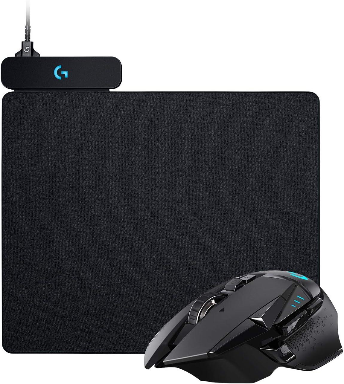 Logitech G502 Lightspeed - Ratón Inalámbrico para Gaming, Negro + POWERPLAY Sistema de Carga inalámbrico