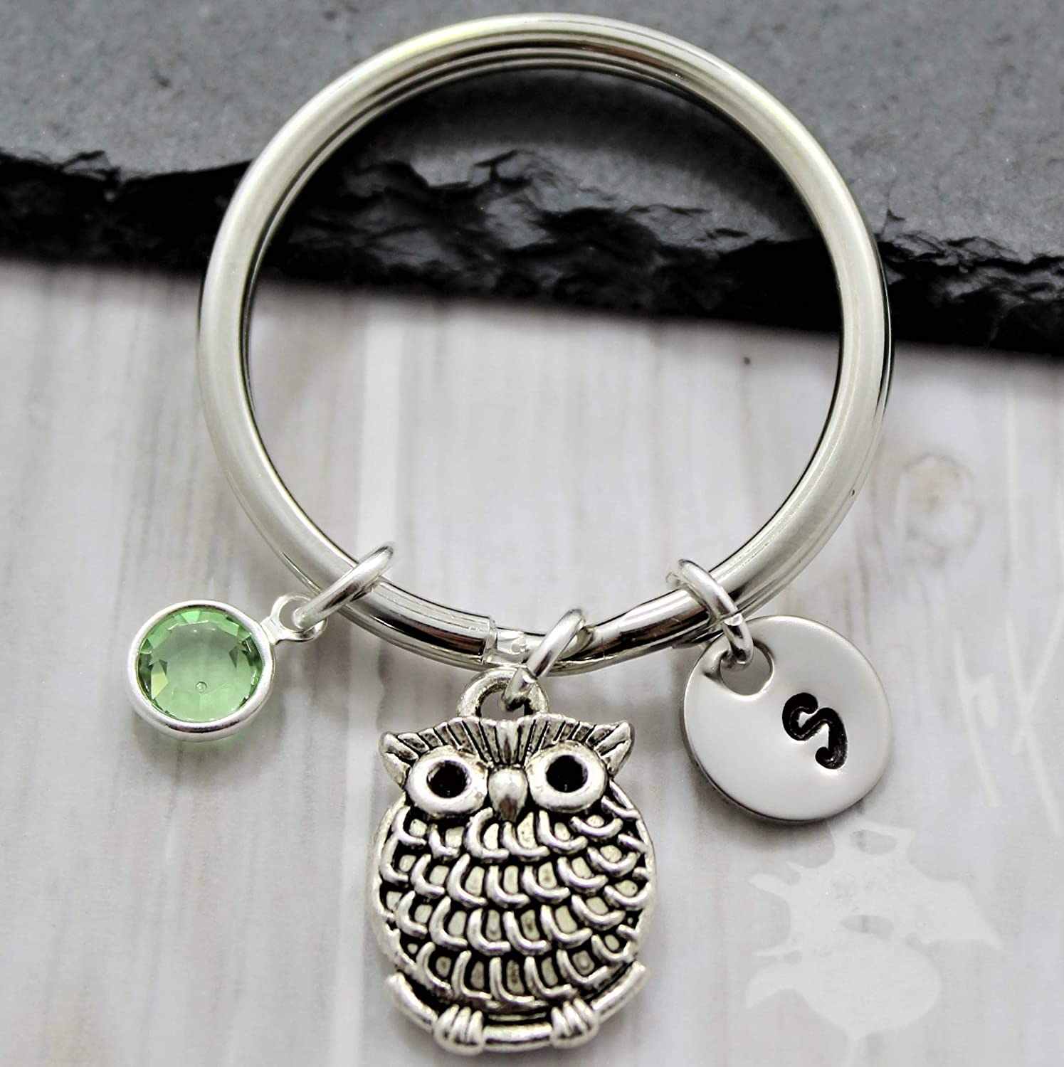 Amazon Com Owl Keychain For Women Animal Themed Owl Jewelry For Girls Personalized Owl Accessories Owl Lover Gifts Handmade