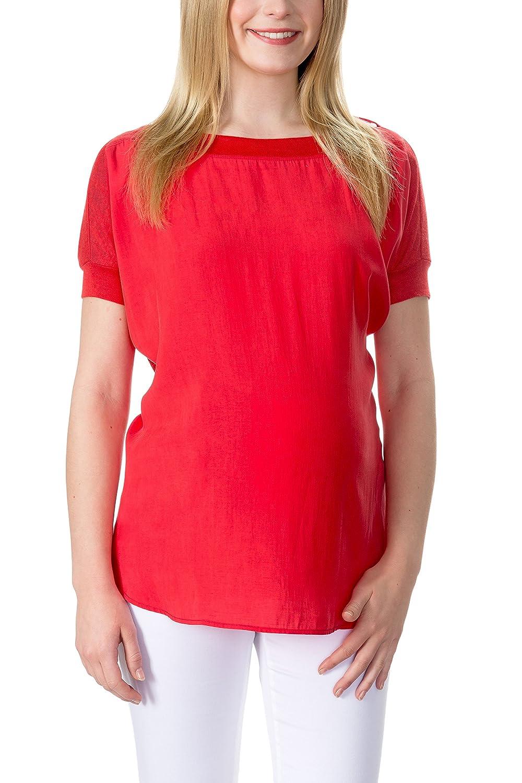 bellybutton Damen Bluse Naoma - Bluse 3/4 Arm Rot (tomato 2052) 34 1686307 B013K6MHAQRot (tomato 2052)34