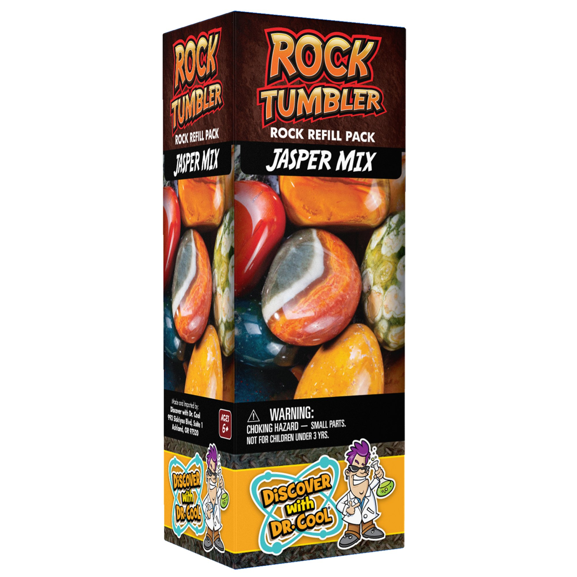 Rock Tumbler Refill - Rough Jasper of Nine Varieties (1lb) by Discover with Dr. Cool