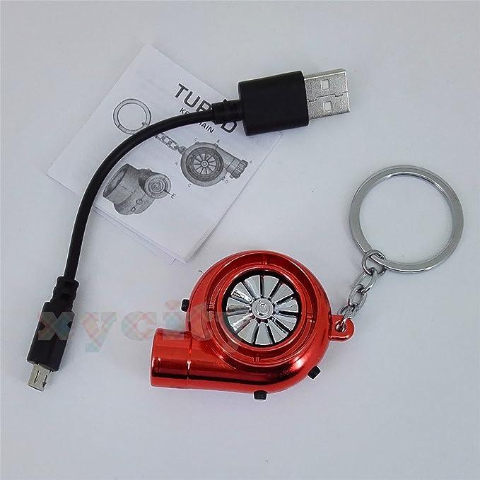 Encendedor eléctrico sin llama de Tesla; USB, resistente al viento, con batería y cable, llavero, con sonido BOV divertido, para regalo, rojo: Amazon.es: ...