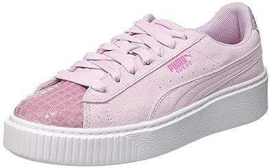 PUMA Sneaker 'Suede Plattform Street 2' rosa weiß