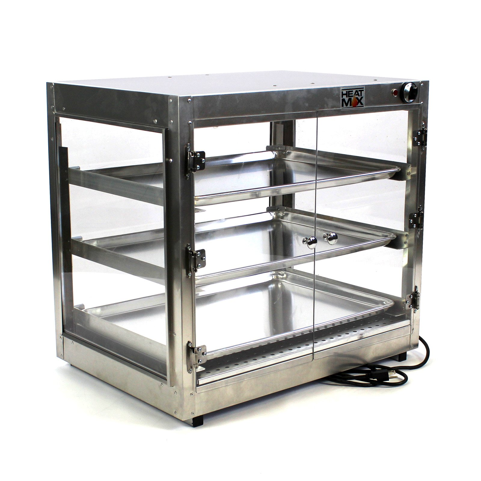 Commercial Food Warmer Sheet Pan Countertop Cabinet 29''x20''x27'' Wide Display