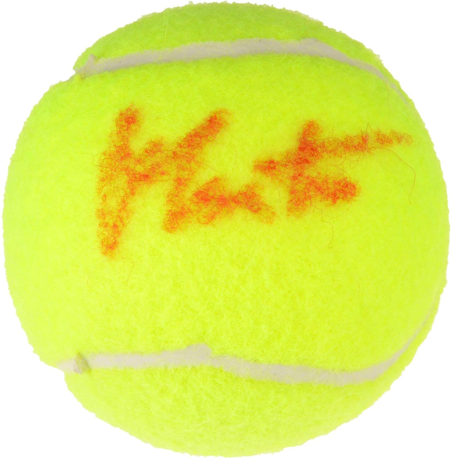 Martina Navratilova Autographed Penn Red Logo Tennis Ball - Signed in Red ink - Fanatics Authentic Certified