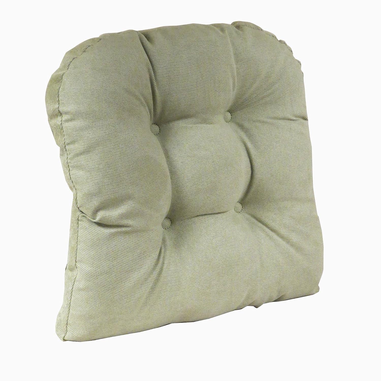 "Klear Vu Twillo Large Overstuffed Non-Slip Gripper Chair Pad Cushion, 17"" x 17"", 1 Chairpad, 1 Pack, Thyme"