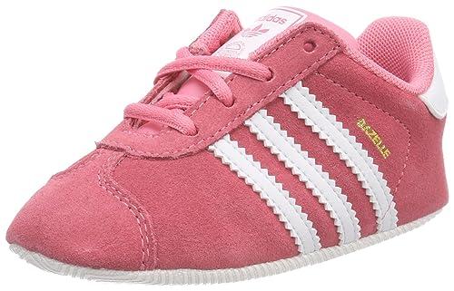 Adidas Gazelle Crib, Pantofole Unisex-Bimbi, Rosa (Rostiz Ftwbla 000),