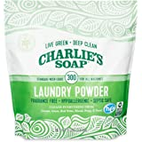 Charlie's Soap Laundry Powder (300 Loads, 1 Pack) Fragrance Free Hypoallergenic Deep Cleaning Washing Powder Detergent – Biod