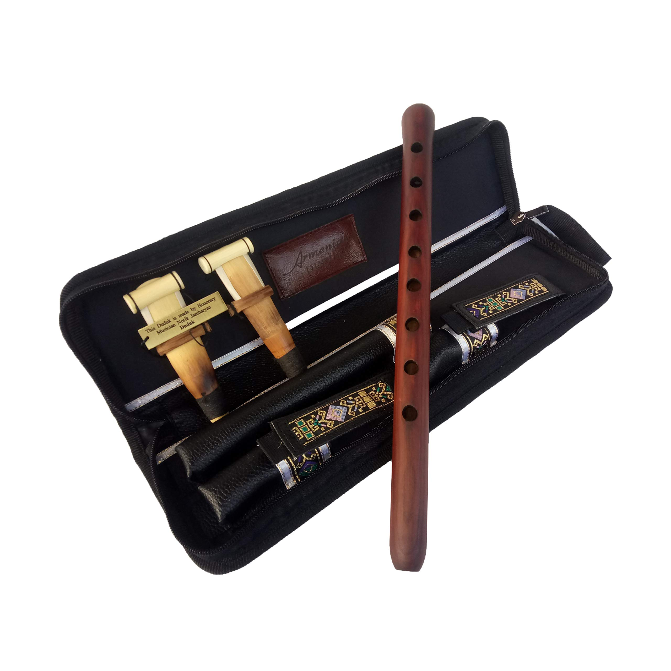 SALE - Professional Armenian DUDUK instrument Handmade From ARMENIA, leather case, 2 Pro reeds, Playing Instruction - Apricot Wood in Key A - Flute Oboe Balaban Woodwind by HandCraftoria