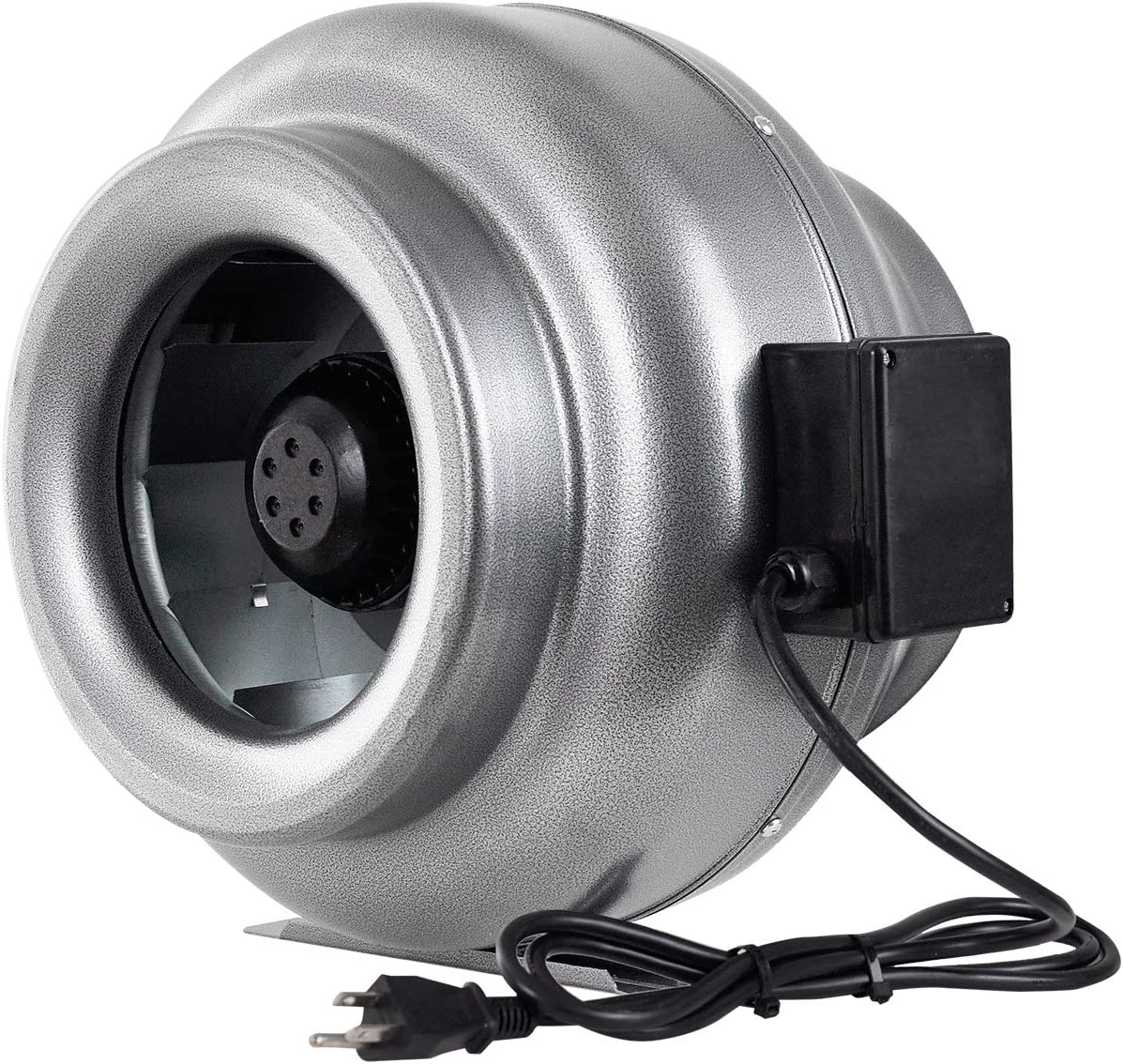 iPower 8/'/' Inline Duct Ventilation Fan HVAC Exhaust Blower for Grow Tent 2-Pack