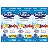 Pedialyte Electrolyte Powder, Electrolyte Drink, Variety Pack, Powder Sticks, 0.3 oz (24 Count)