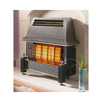 Outset Fireplace - Regency Style - Black: Amazon.co.uk: Kitchen & Home