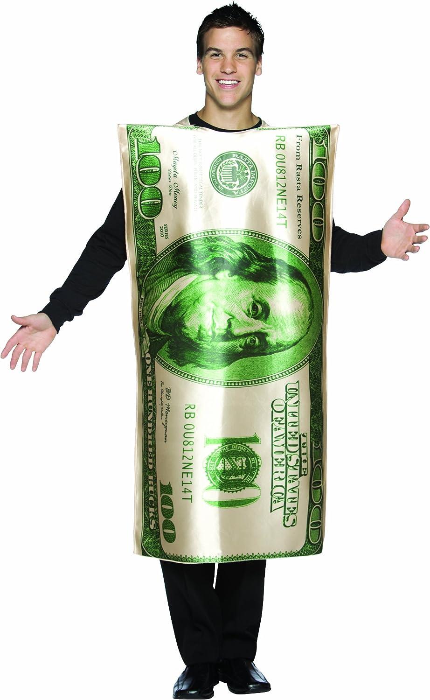 Amazon.com: Rasta Imposta Dollar 100 Bill Costume, Green/White ...