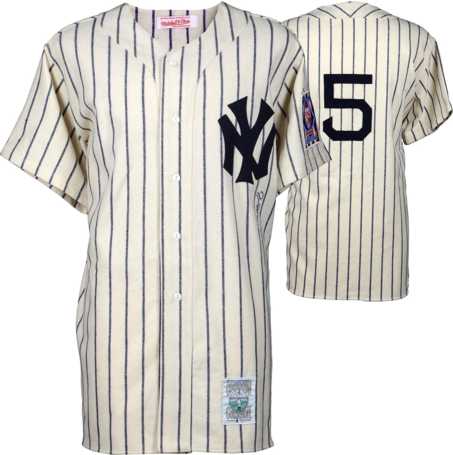 low priced 8860a c8e88 Joe DiMaggio New York Yankees Autographed Mitchell & Ness ...