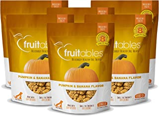 product image for Fruitables 7 Ounce Crunchy Baked Dog Treats Pumpkin & Banana Flavor Pack of 6